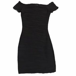 Wet Seal Off-shoulder Bodycon Fitted Mini Dress Xs